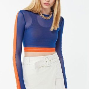 NWT Urban Outfitters Bailey Colorblock Mesh Top